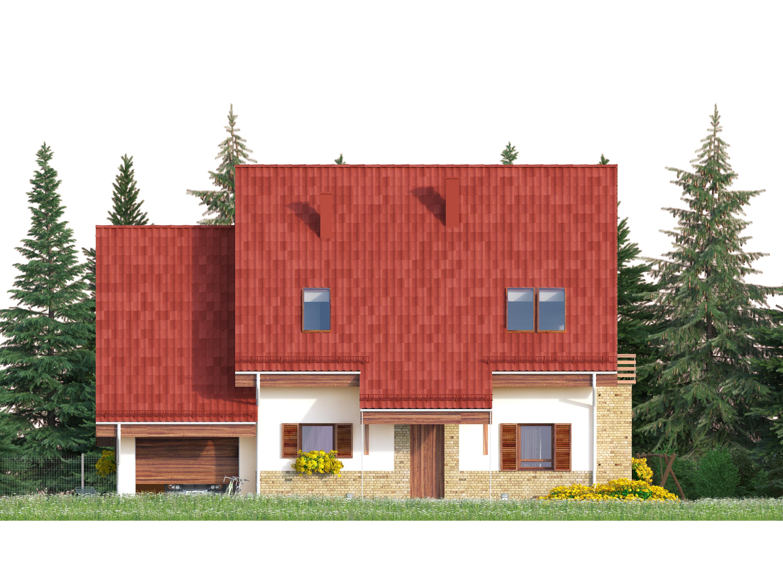 Projekt domu SPOKOJNY Domy Czystej Energii elewacja frontowa