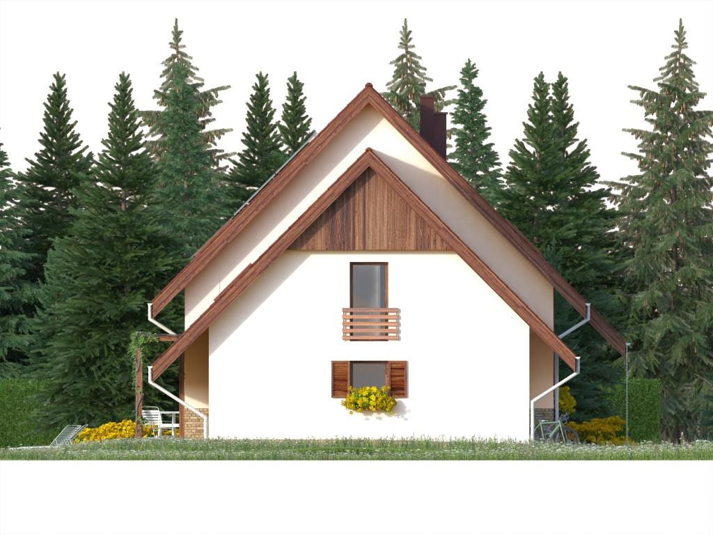 Projekt domu SPOKOJNY Domy Czystej Energii elewacja boczna