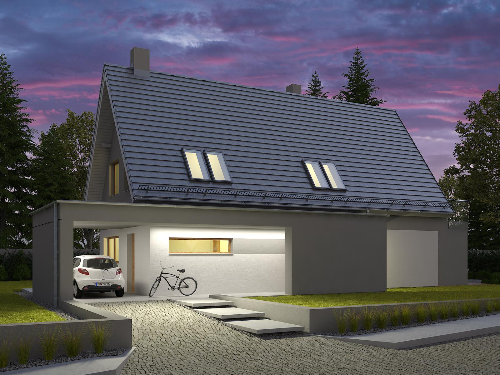Projekt domu Z WIDOKIEM Domy Czystej Energii widok od boku