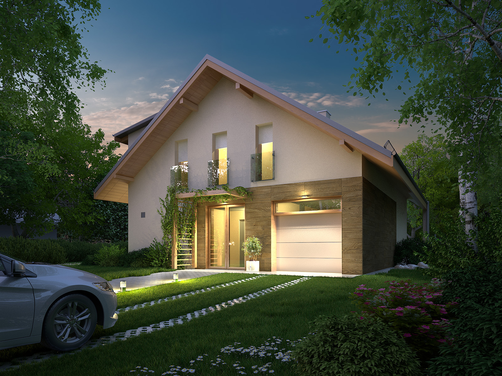 Projekt domu PRZYTULNY Domy Czystej Energii widok od frontu