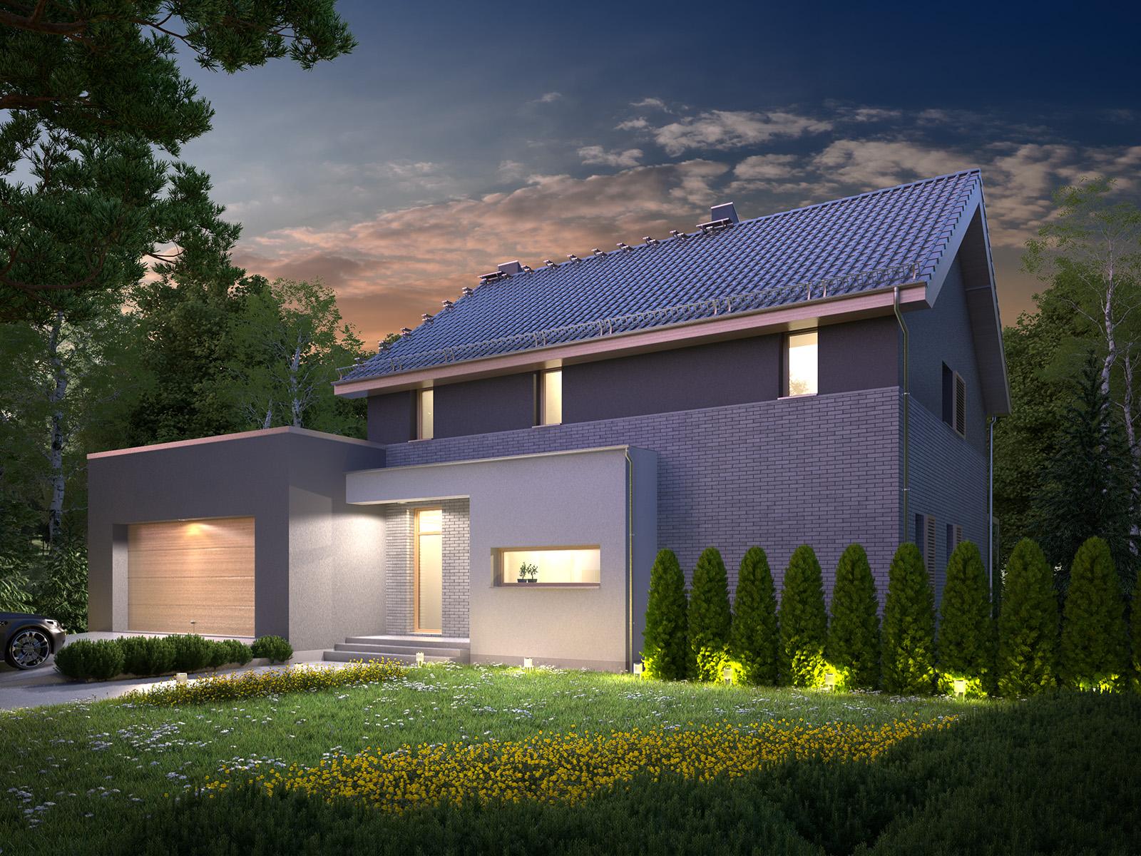 Projekt domu SIELSKI Domy Czystej Energii widok od frontu