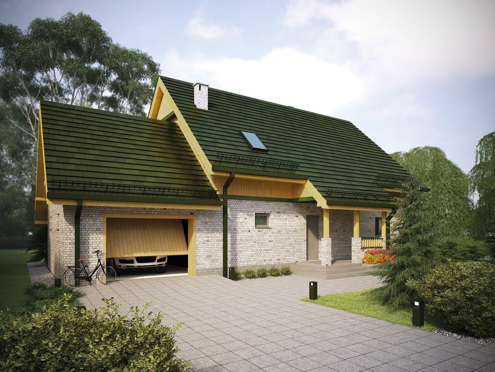 Projekt domu WIOSENNY Domy Czystej Energii widok od frontu