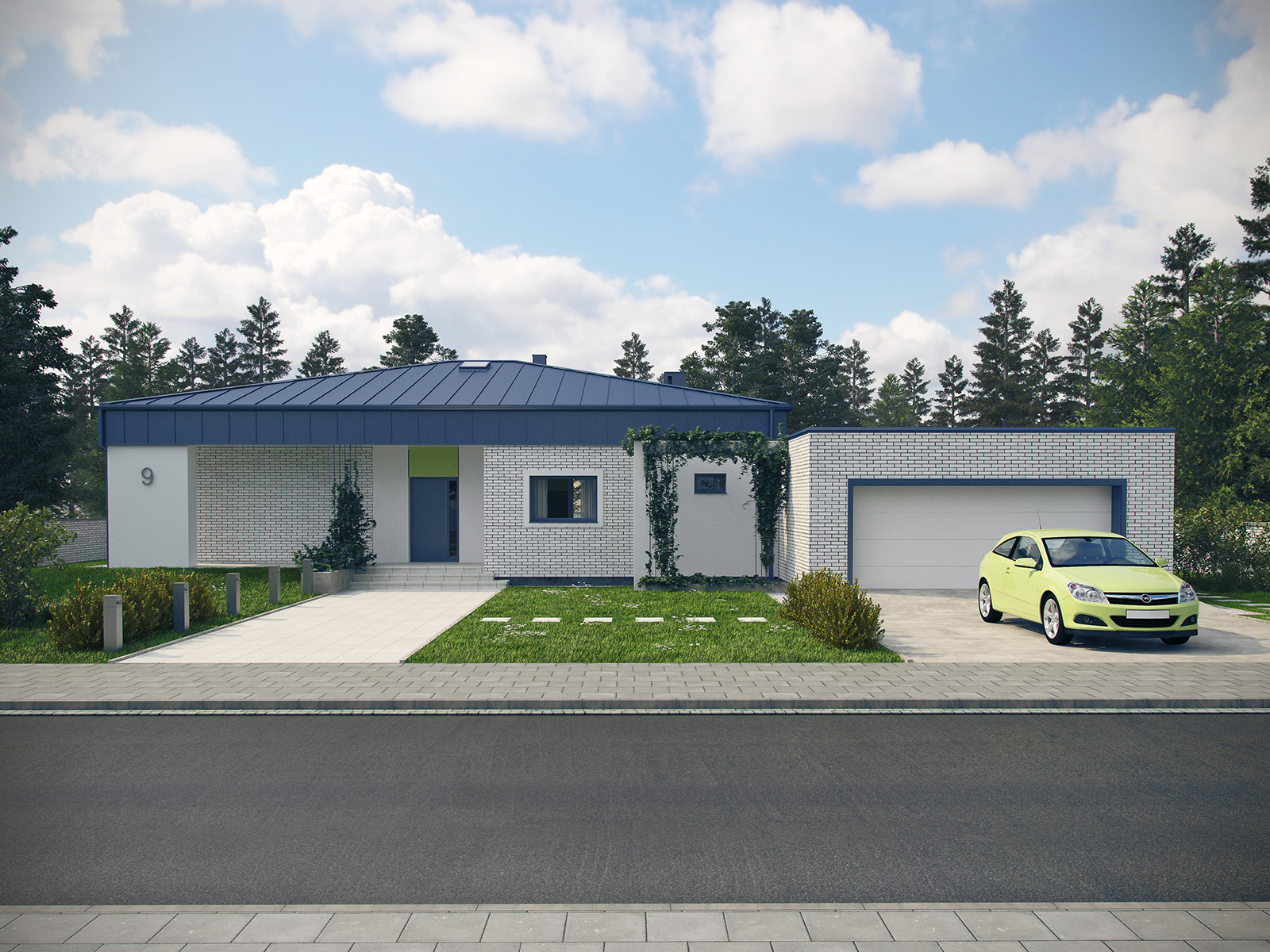 Projekt domu PARTEROWY I Domy Czystej Energii widok od frontu