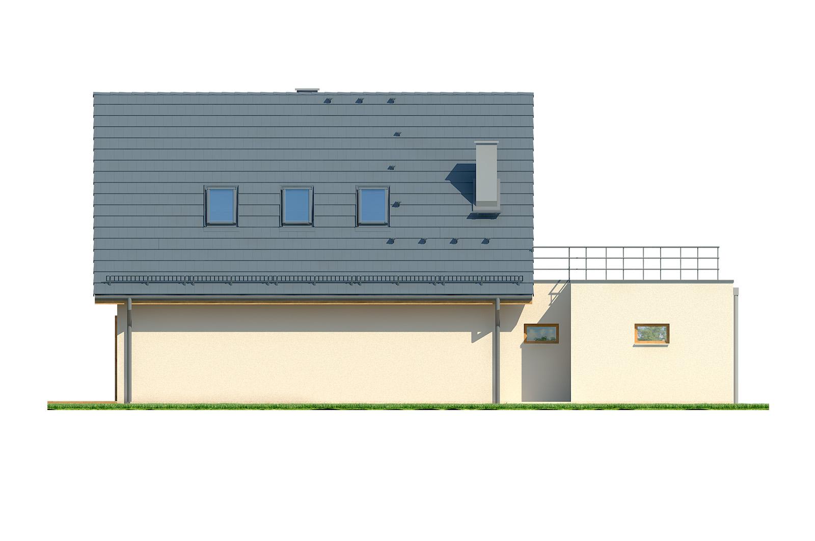Projekt domu EKORODZINNY Domy Czystej Energii elewacja tylna