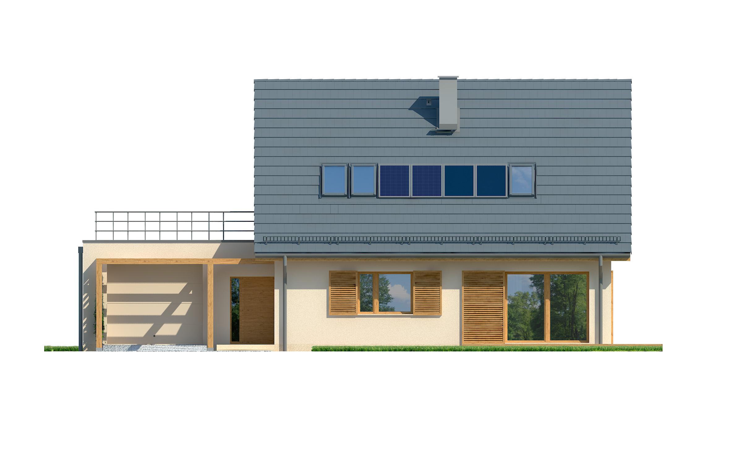 Projekt domu EKORODZINNY Domy Czystej Energii elewacja frontowa