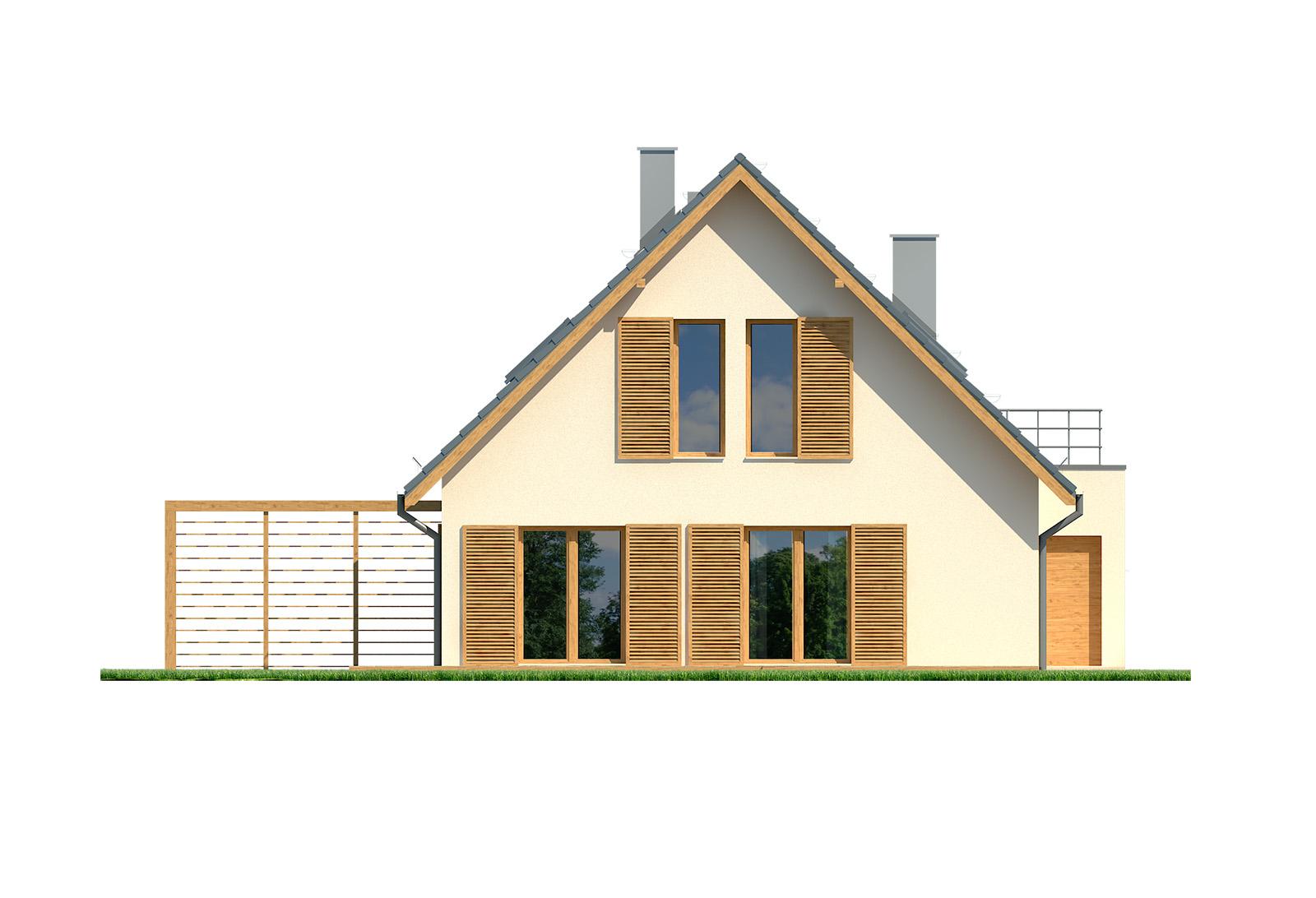 Projekt domu EKORODZINNY Domy Czystej Energii elewacja boczna