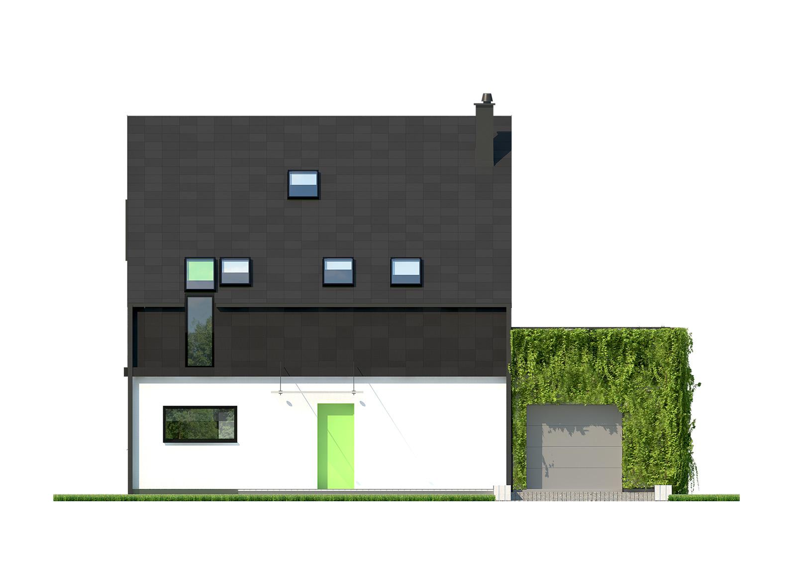 Projekt domu ELEGANCKI Domy Czystej Energii elewacja frontowa