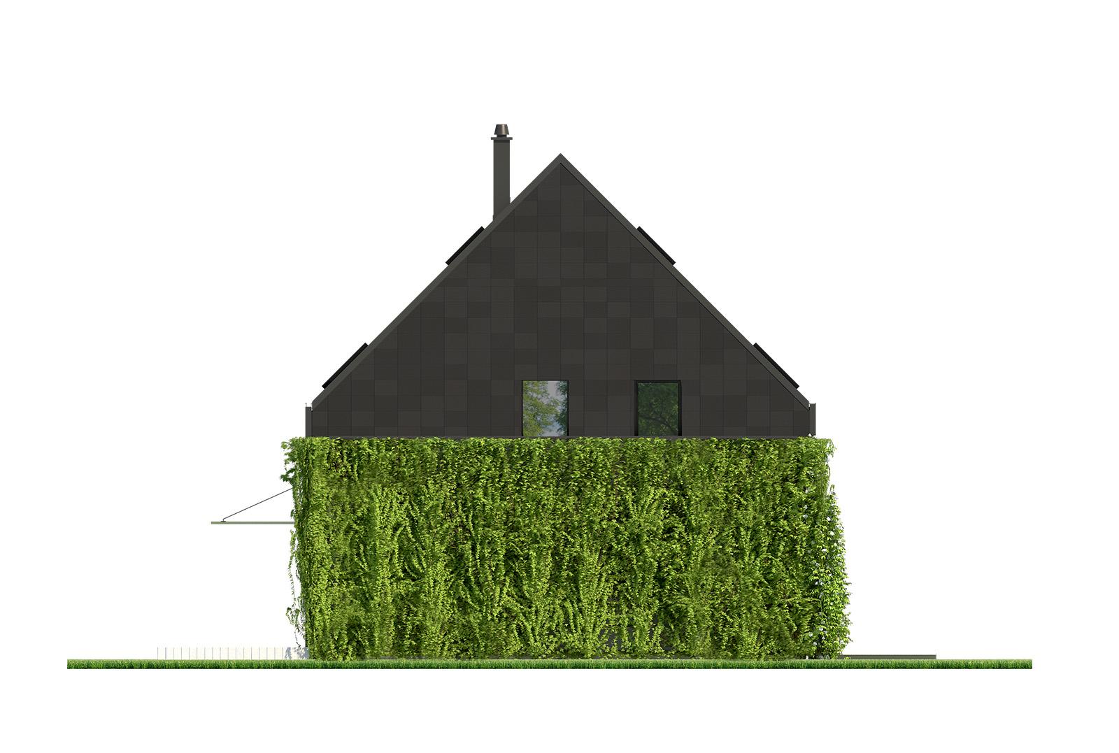Projekt domu ELEGANCKI Domy Czystej Energii elewacja boczna