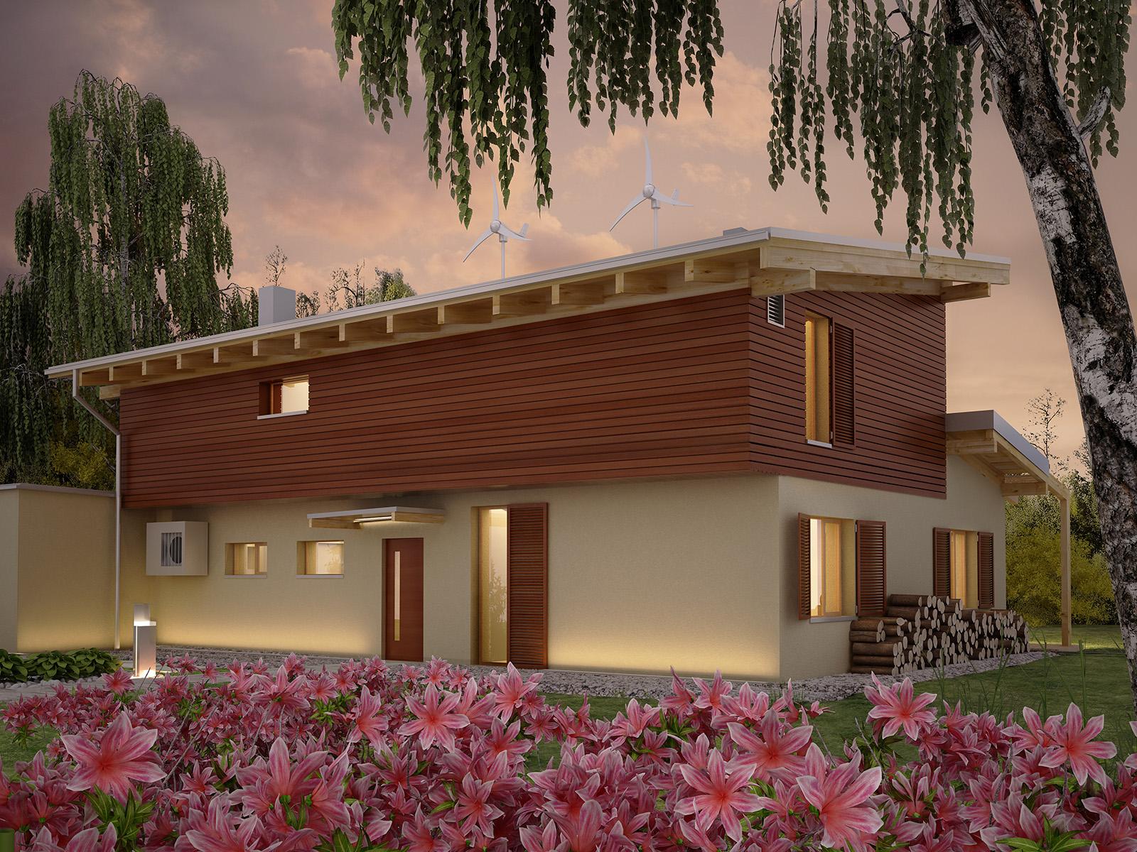 Projekt domu SOLARNY Domy Czystej Energii widok od frontu