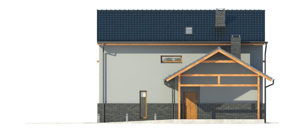 Projekt domu BALKONOWY Domy Czystej Energii elewacja frontowa