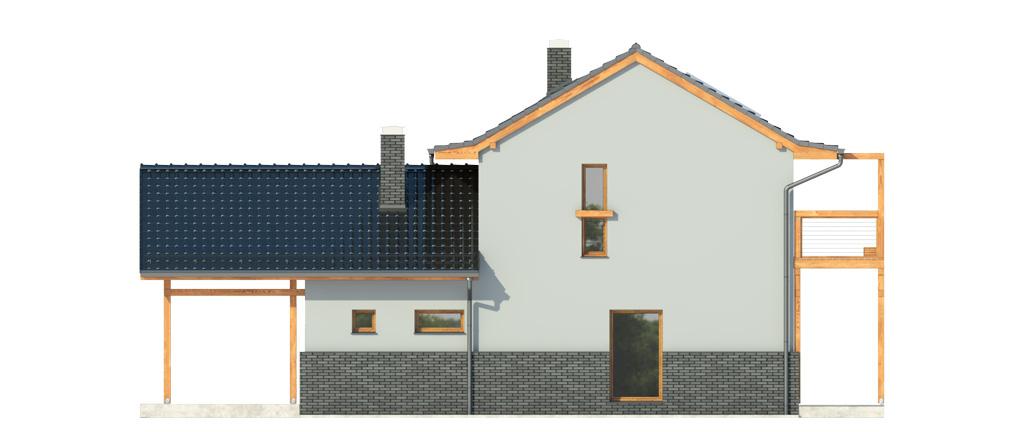 Projekt domu BALKONOWY Domy Czystej Energii elewacja boczna