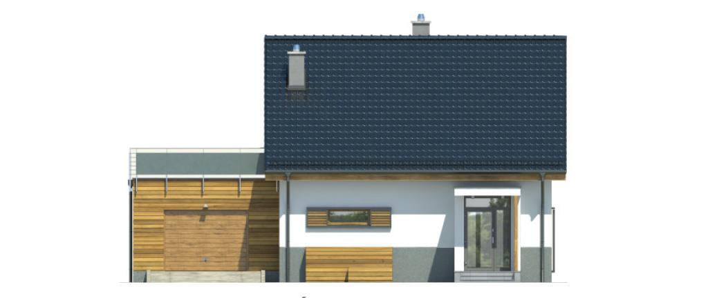 Projekt domu CIEPŁY Domy Czystej Energii elewacja frontowa