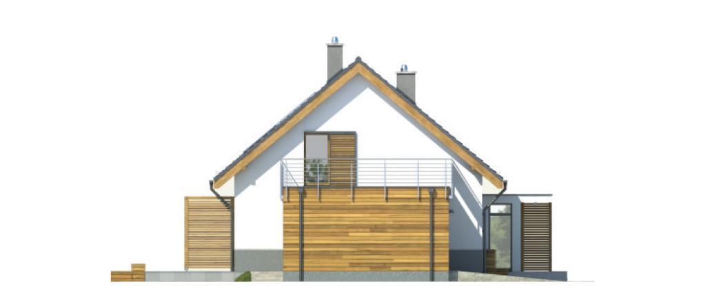 Projekt domu CIEPŁY Domy Czystej Energii elewacja boczna