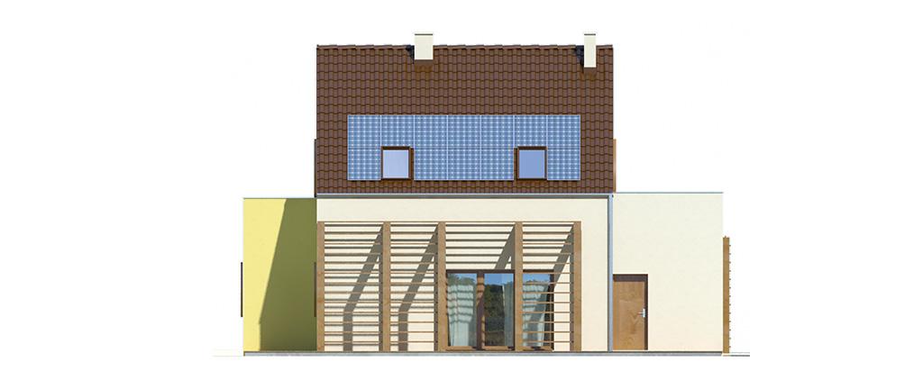 Projekt domu EKOOSTOJA Domy Czystej Energii elewacja tylna