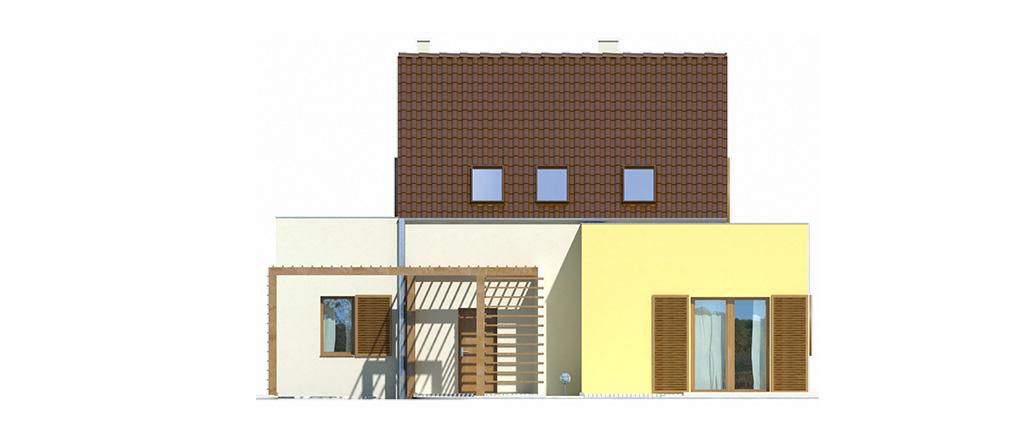 Projekt domu EKOOSTOJA Domy Czystej Energii elewacja frontowa