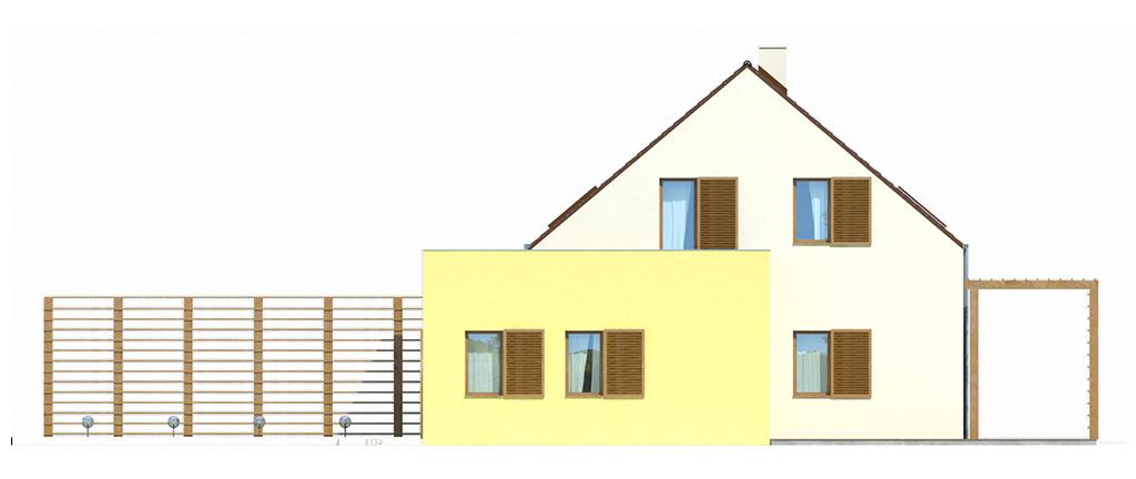 Projekt domu EKOOSTOJA Domy Czystej Energii elewacja boczna