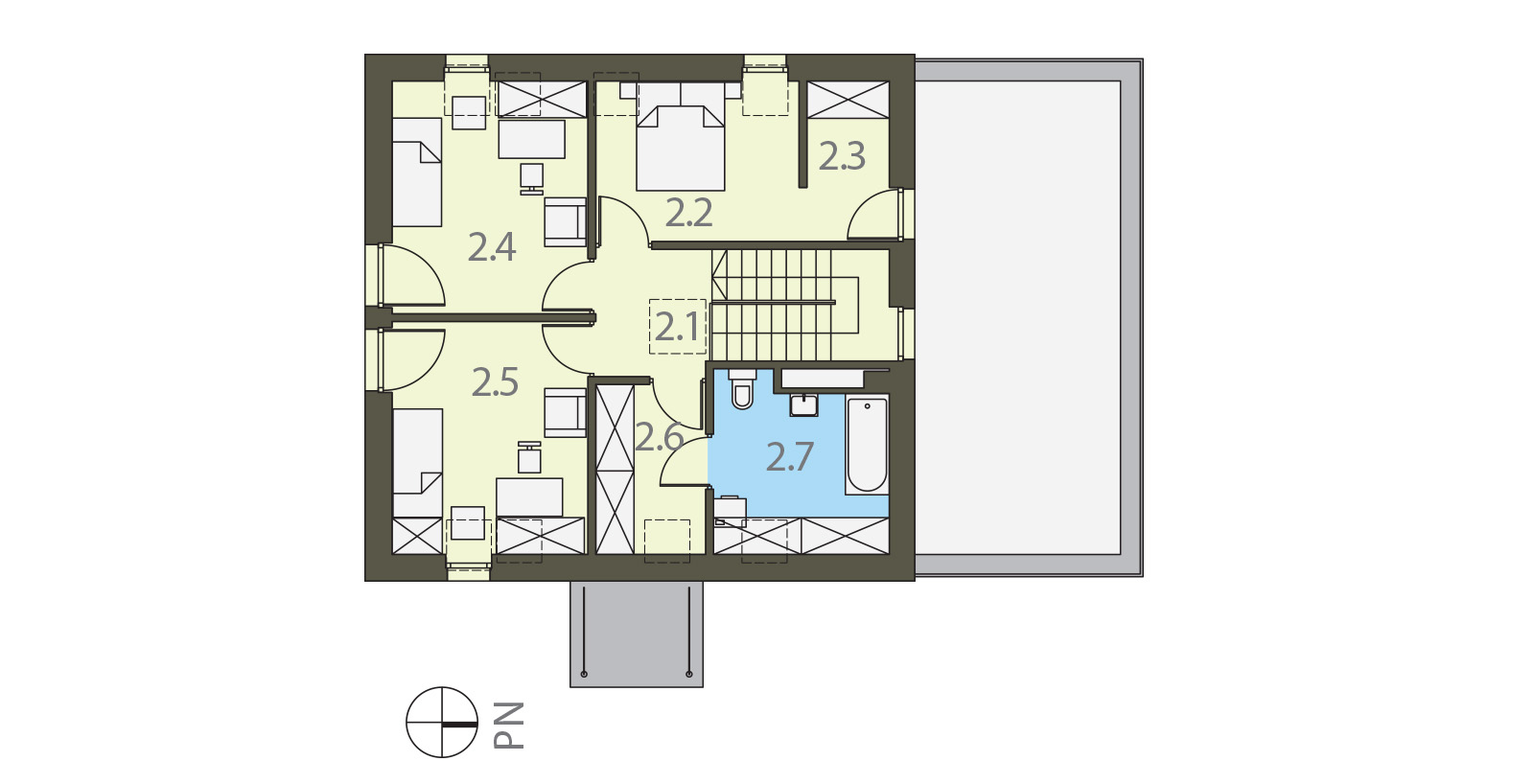 Projekt domu ELEGANCKI Domy Czystej Energii rzut piętra