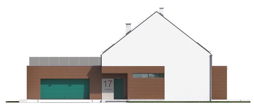Projekt domu 2 PLUS 1  Domy Czystej Energii elewacja frontowa