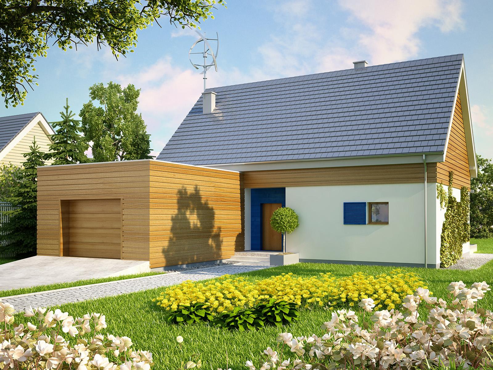 Projekt domu EL-KA Domy Czystej Energii widok od frontu