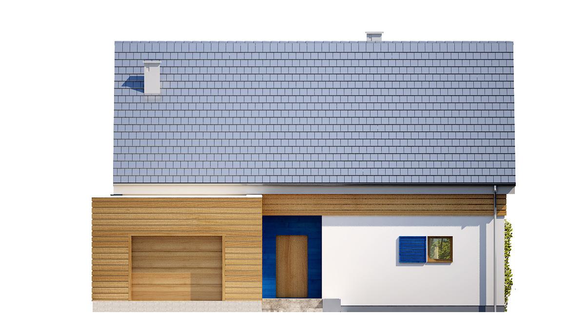 Projekt domu EL-KA Domy Czystej Energii elewacja frontowa