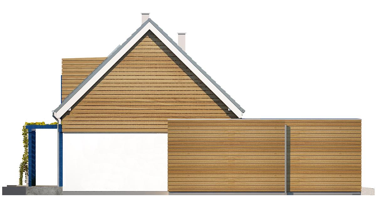 Projekt domu EL-KA Domy Czystej Energii elewacja boczna
