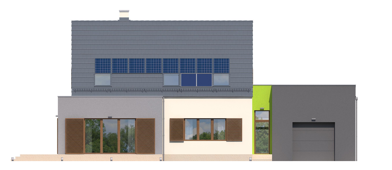 Projekt domu FRONTOWY Domy Czystej Energii elewacja frontowa