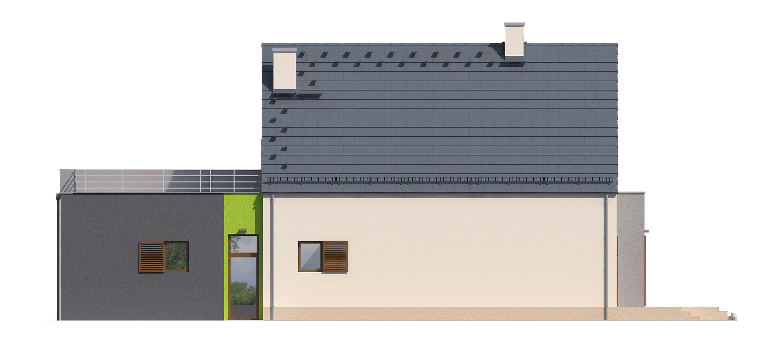 Projekt domu FRONTOWY Domy Czystej Energii elewacja tylna