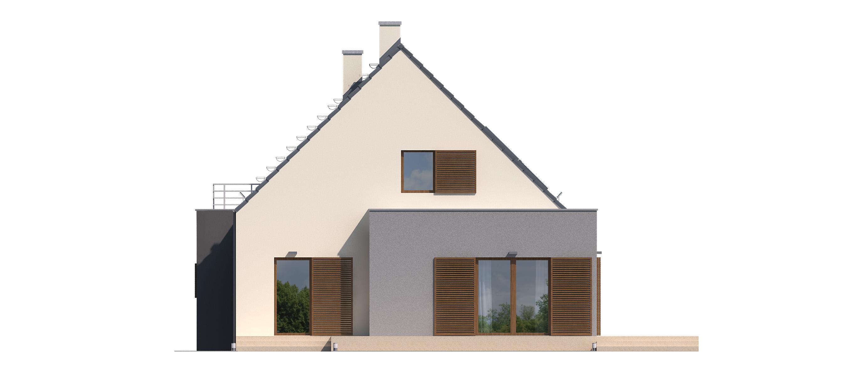 Projekt domu FRONTOWY Domy Czystej Energii elewacja boczna