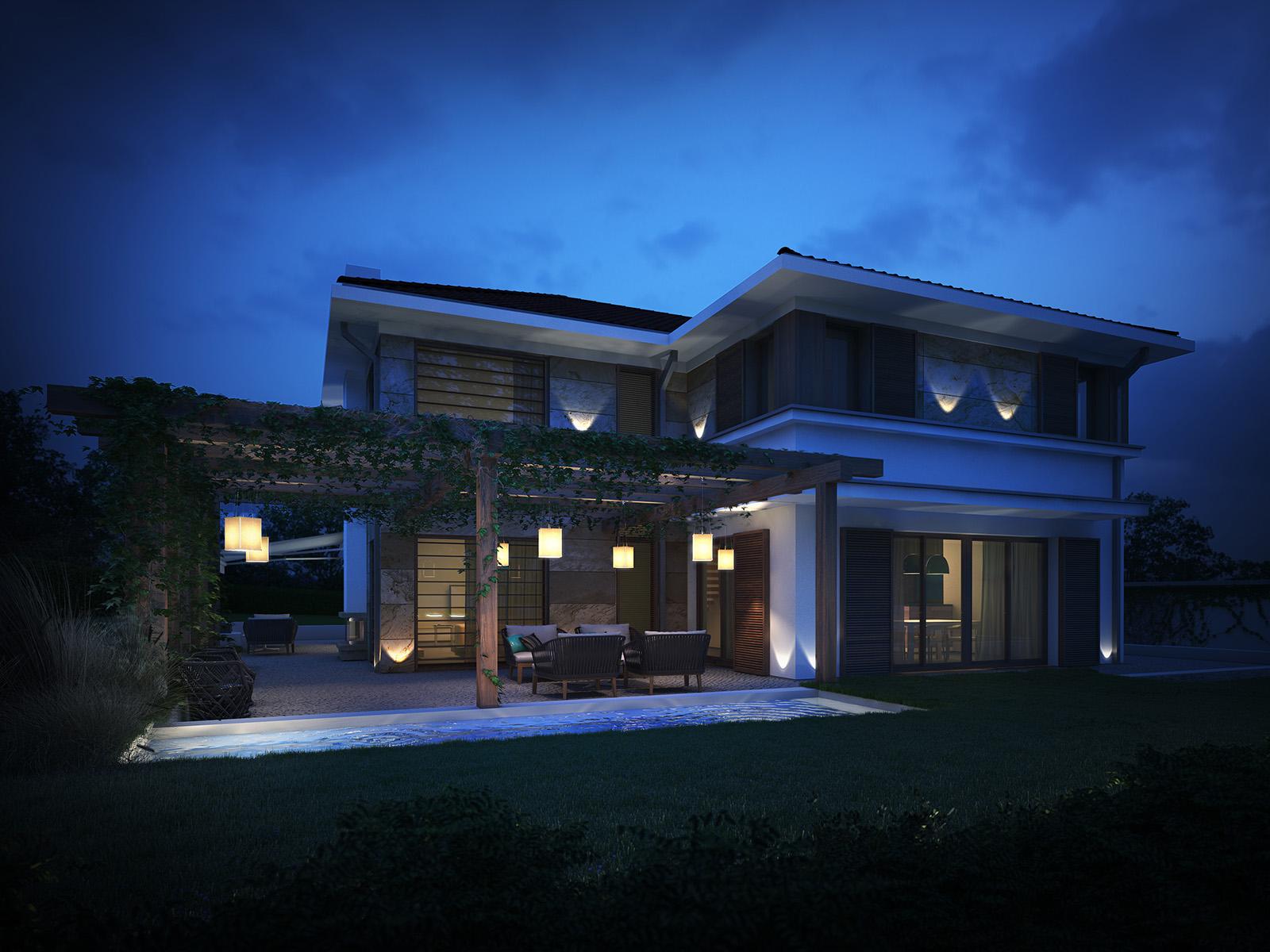Projekt domu ZDROJOWY Domy Czystej Energii widok od boku