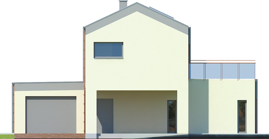 Projekt domu KĄT Domy Czystej Energii elewacja frontowa