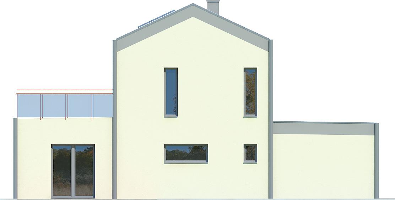 Projekt domu KĄT Domy Czystej Energii elewacja tylna