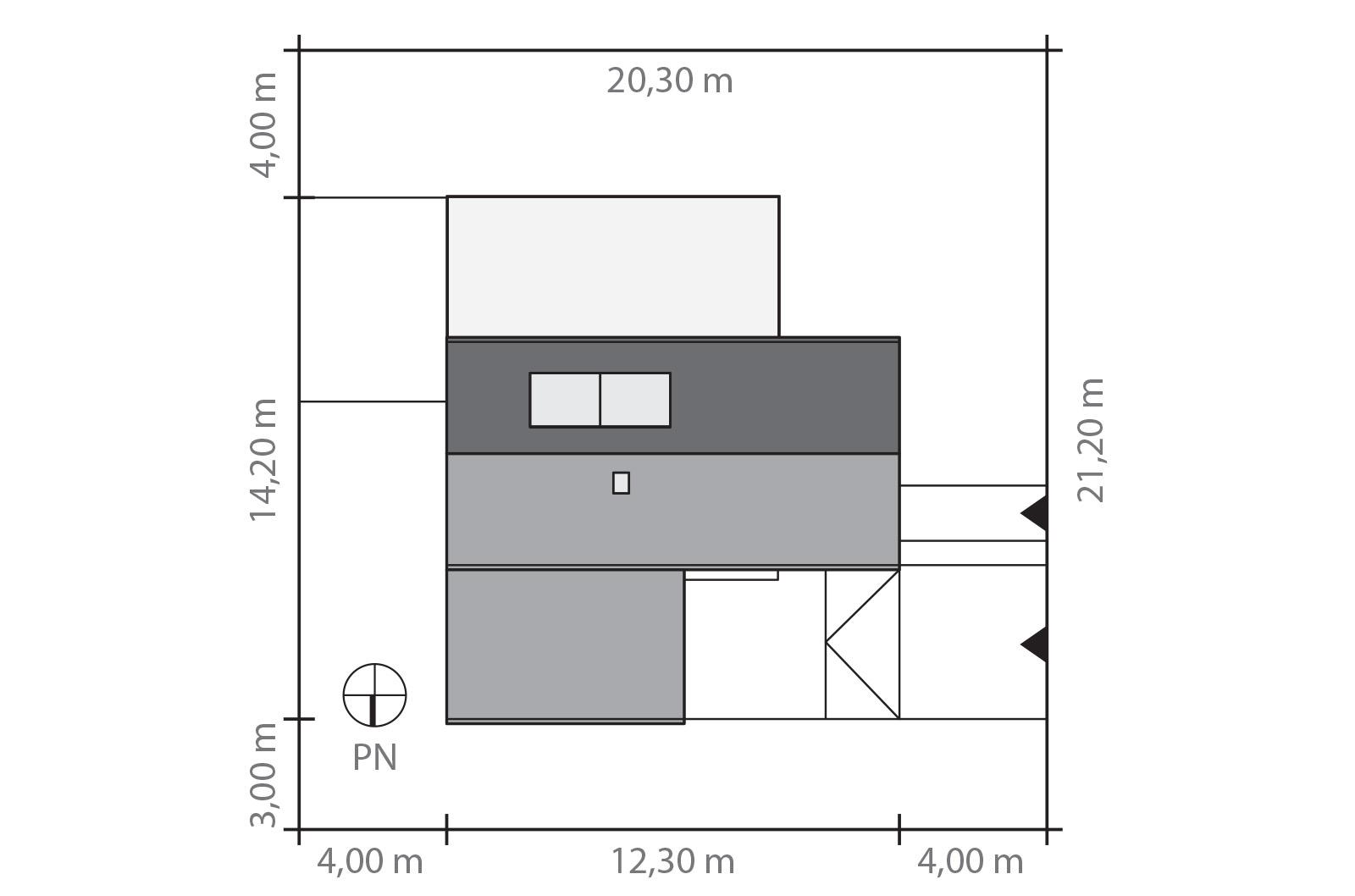 Projekt domu KĄT Domy Czystej Energii rzut działki