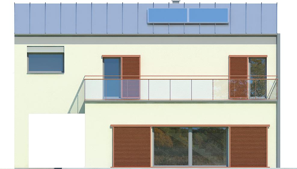 Projekt domu KĄT Domy Czystej Energii elewacja boczna