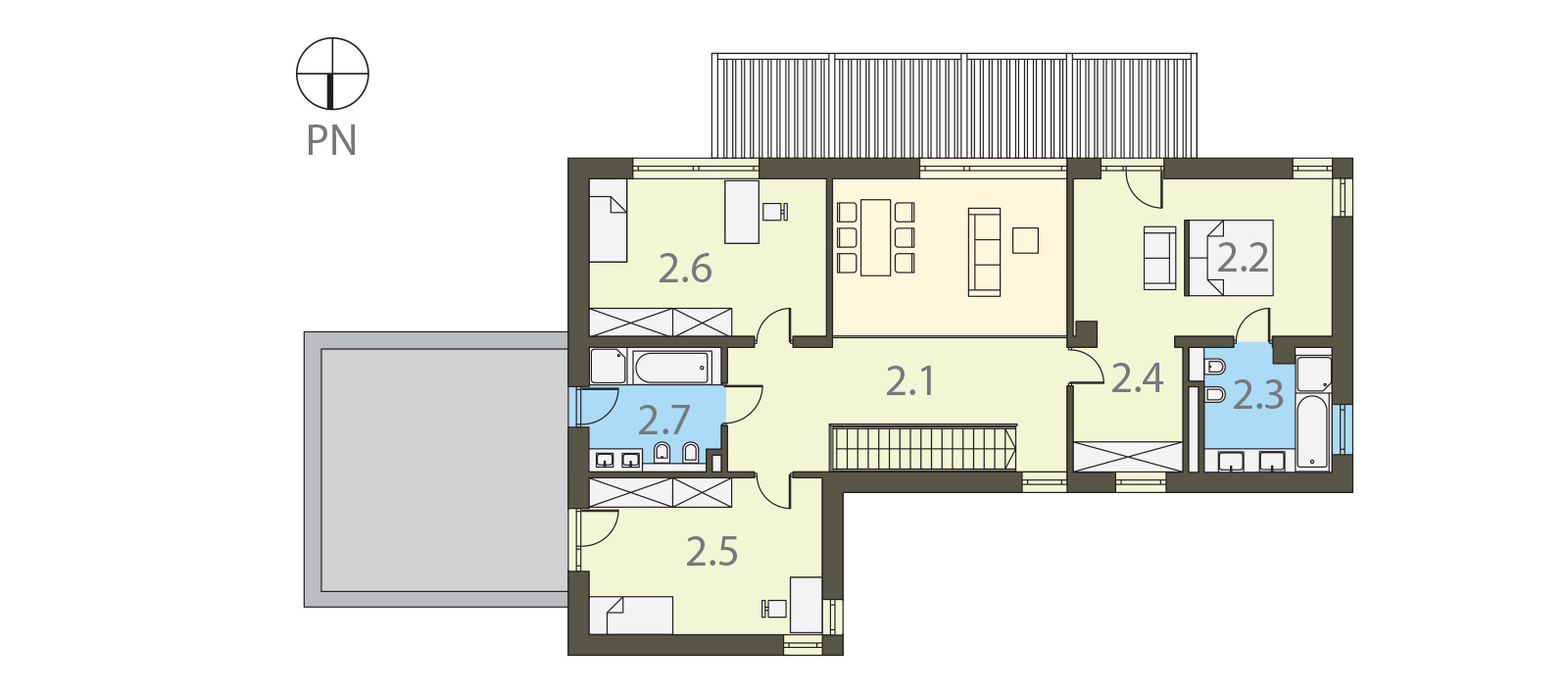 Projekt domu KOMFORTOWY Domy Czystej Energii rzut piętra