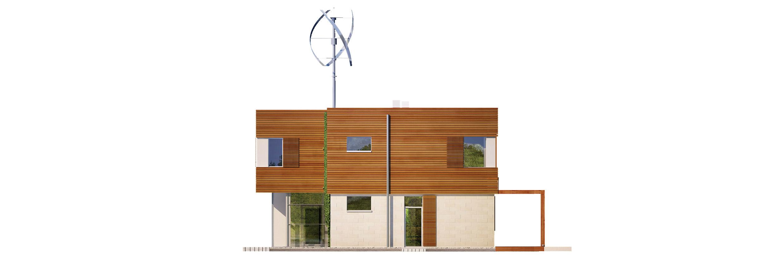 Projekt domu KOMFORTOWY Domy Czystej Energii elewacja boczna