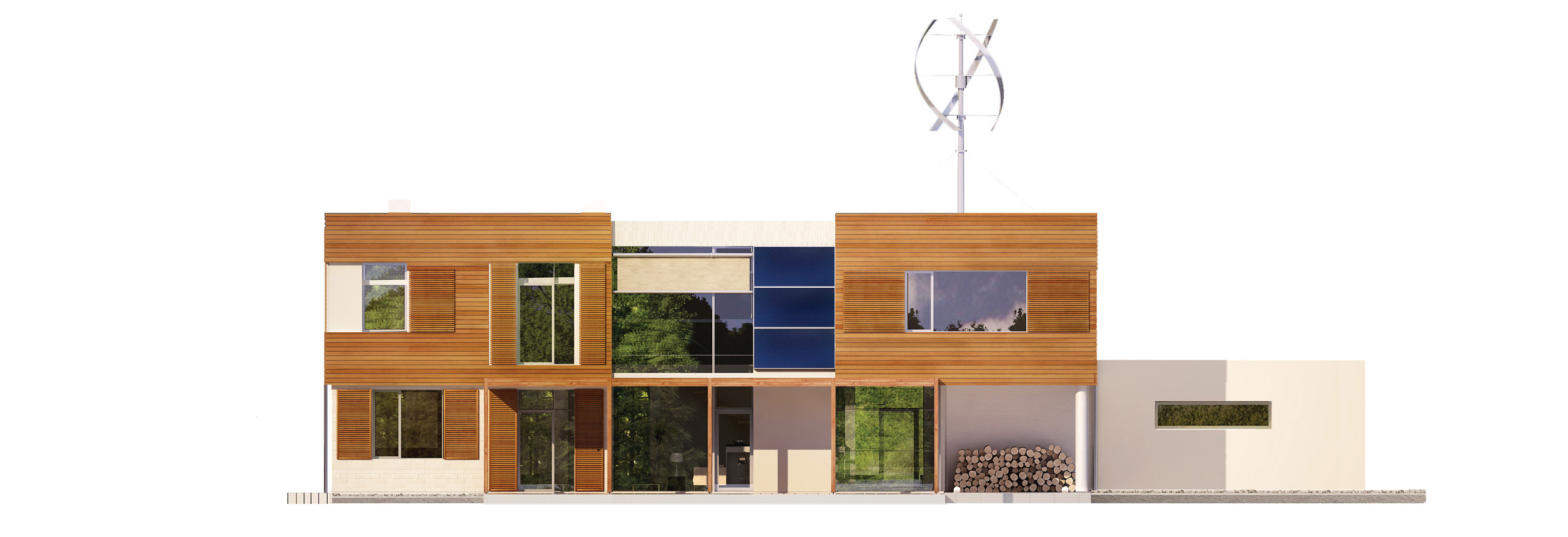 Projekt domu KOMFORTOWY Domy Czystej Energii elewacja tylna
