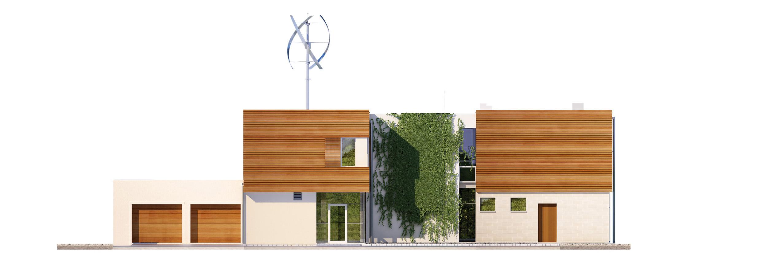 Projekt domu KOMFORTOWY Domy Czystej Energii elewacja frontowa