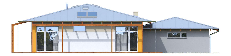Projekt domu KOPERTOWY Domy Czystej Energii elewacja tylna