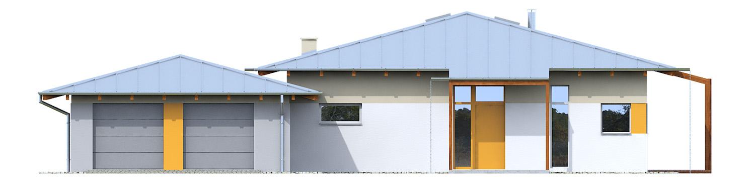 Projekt domu KOPERTOWY Domy Czystej Energii elewacja frontowa