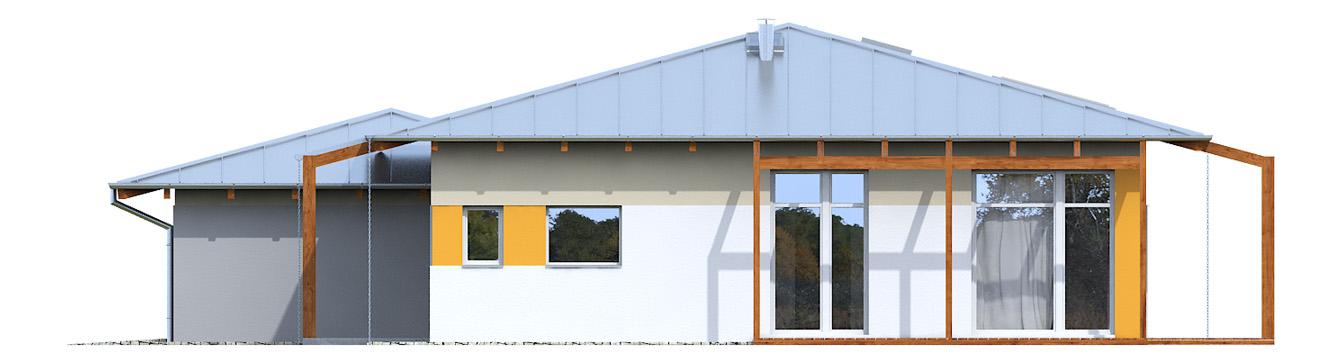 Projekt domu KOPERTOWY Domy Czystej Energii elewacja boczna
