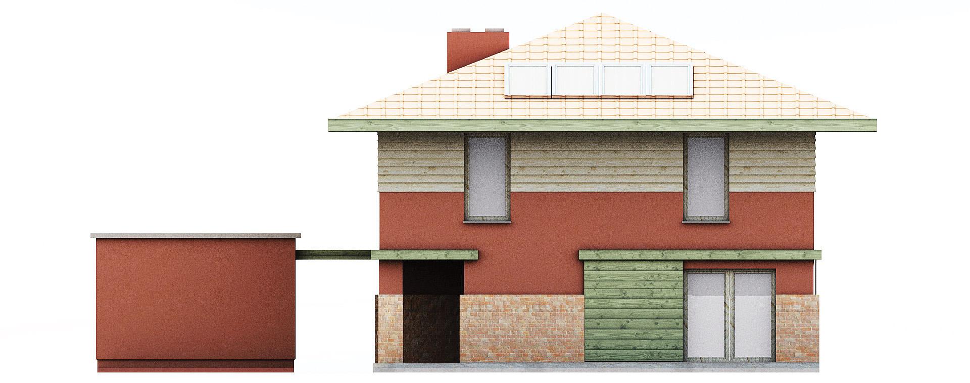 Projekt domu KWADRAT Domy Czystej Energii elewacja tylna