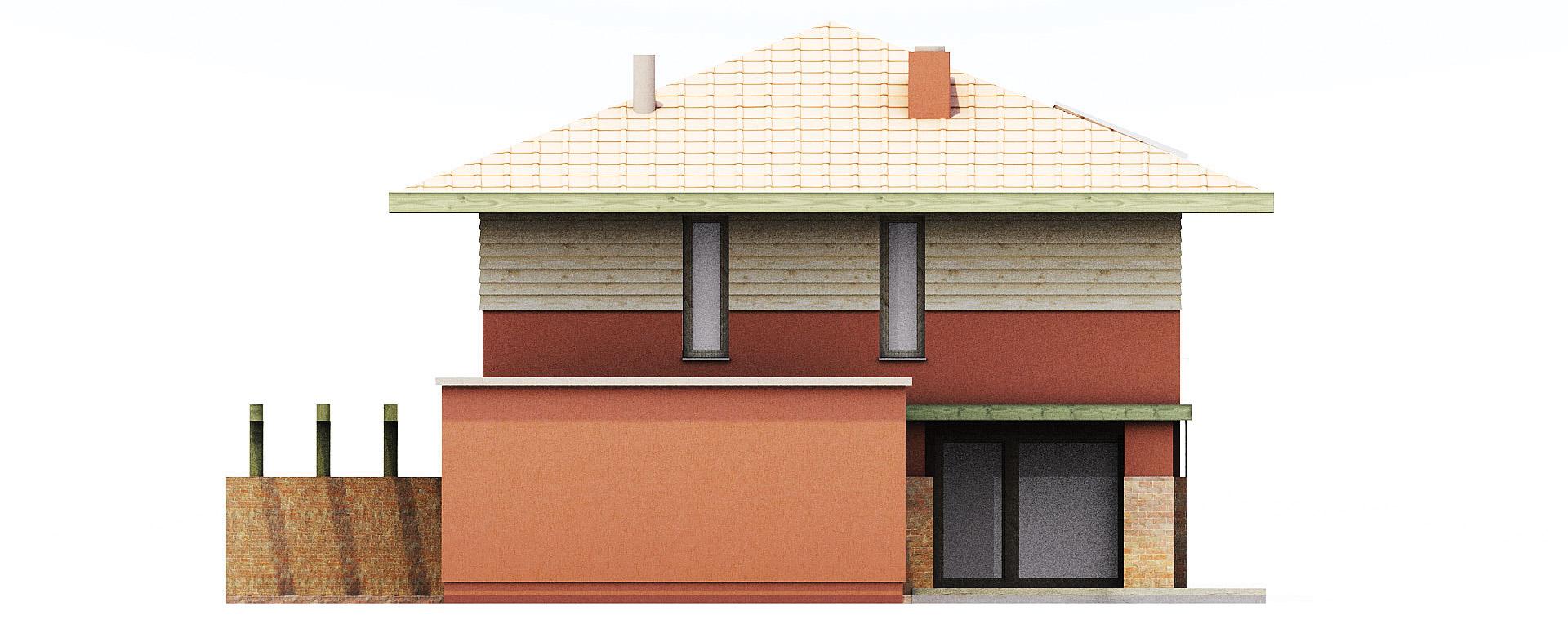 Projekt domu KWADRAT Domy Czystej Energii elewacja boczna