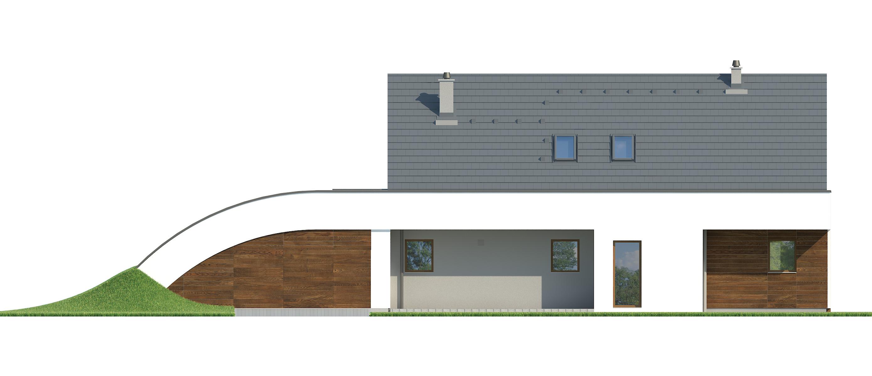 Projekt domu MAJA Domy Czystej Energii elewacja frontowa