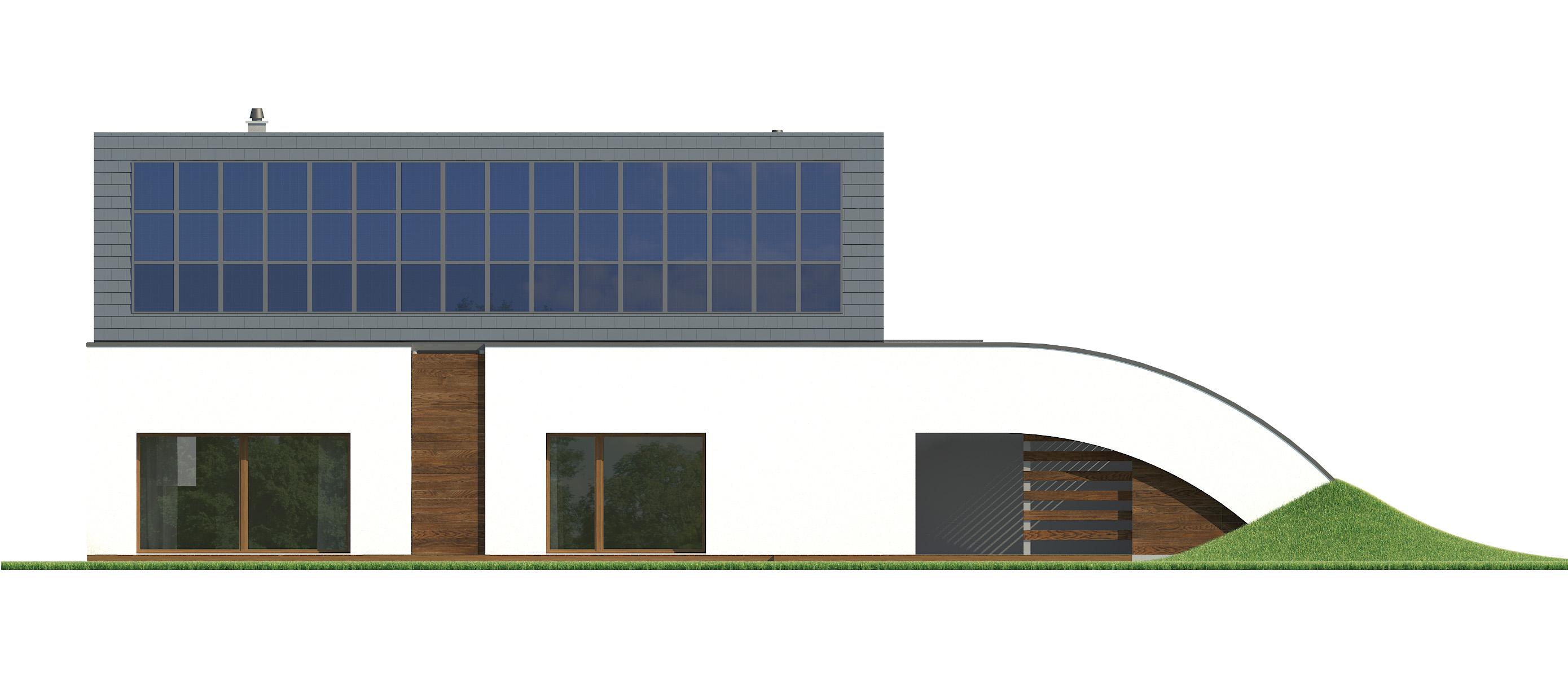 Projekt domu MAJA Domy Czystej Energii elewacja tylna