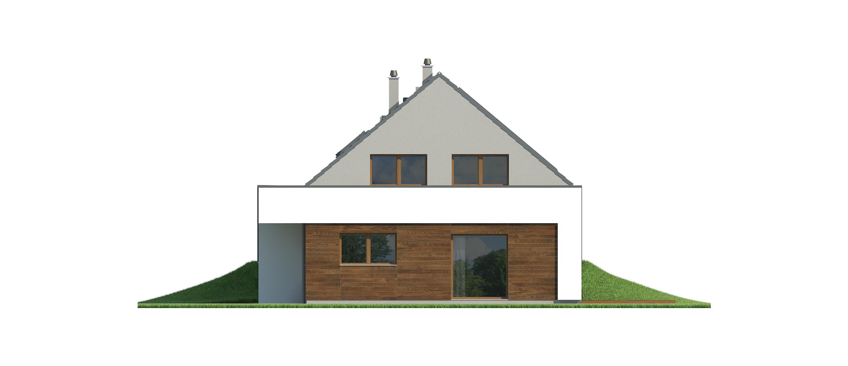 Projekt domu MAJA Domy Czystej Energii elewacja boczna