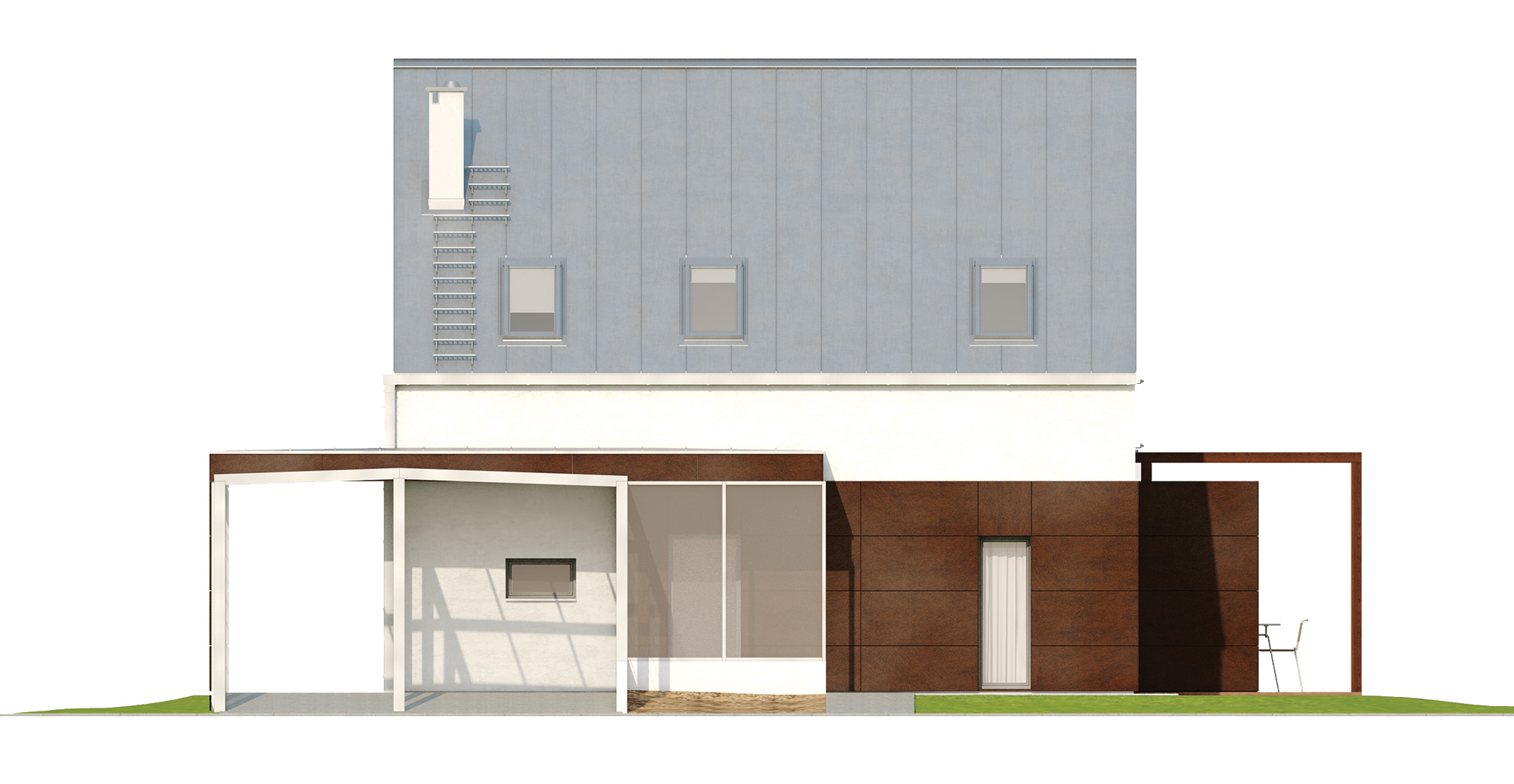 Projekt domu MALUTKI Domy Czystej Energii elewacja frontowa
