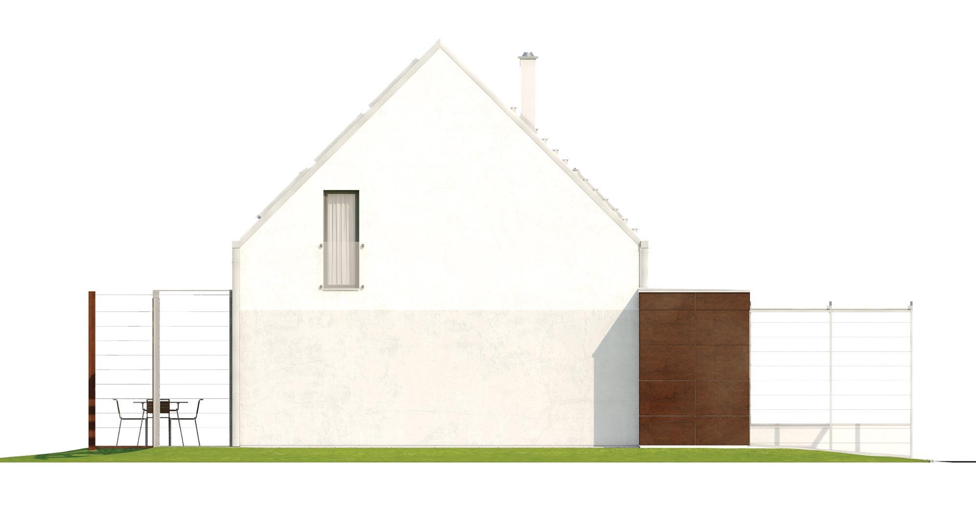 Projekt domu MALUTKI Domy Czystej Energii elewacja boczna