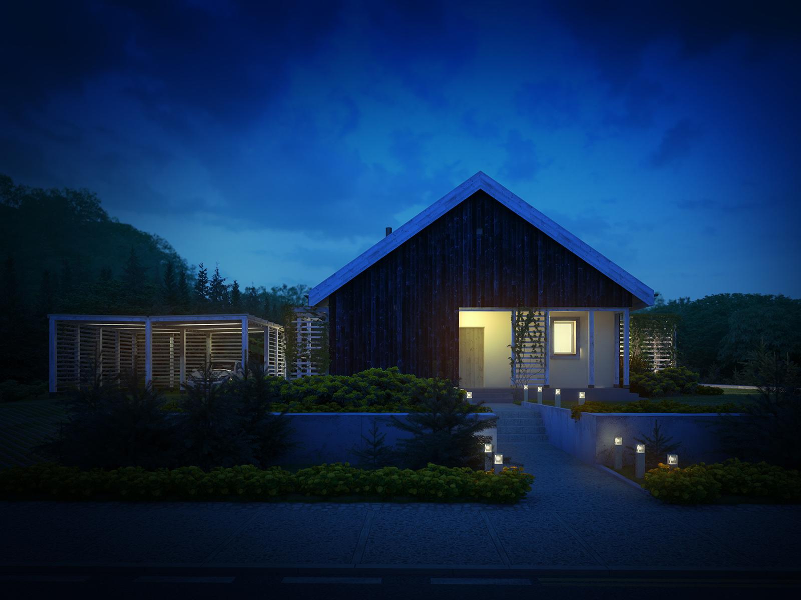 Projekt domu OSLO Domy Czystej Energii widok od frontu