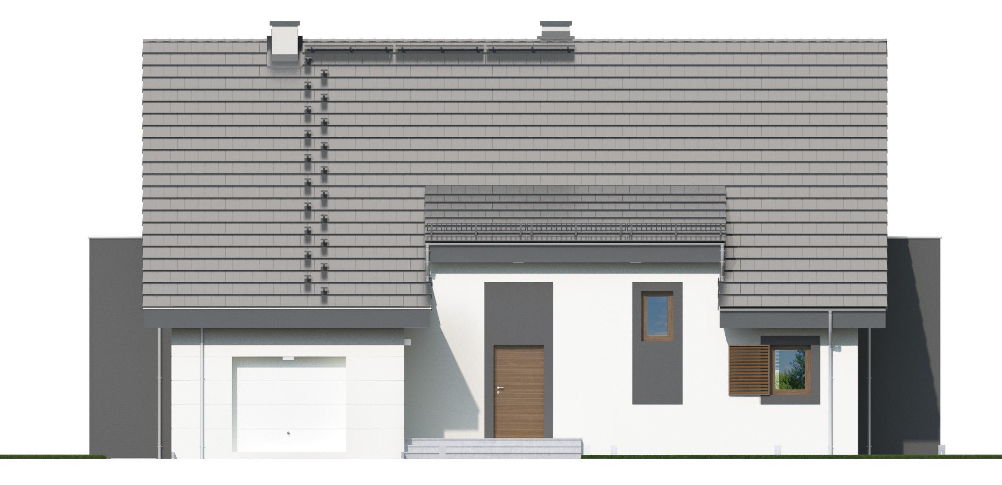 Projekt domu PANORAMA Domy Czystej Energii elewacja frontowa