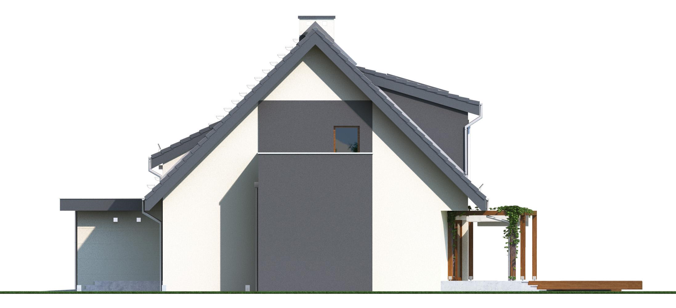 Projekt domu PANORAMA Domy Czystej Energii elewacja boczna